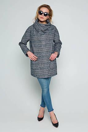Пальто женское демисезонное Челси серо-синий цвет, фото 2