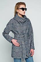 Пальто женское демисезонное Челси серо-синий цвет, фото 3