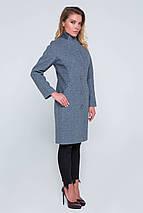 Пальто женское демисезонное Флор серо-голубой цвет, фото 2