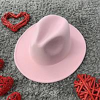 Шляпа Федора унисекс с устойчивыми полями Original розовая