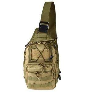 Рюкзак однолямочный через плече койот