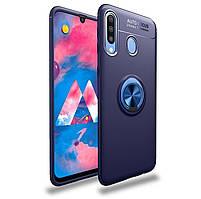 Чехол Fiji Hold для Samsung Galaxy A20s (A207) бампер накладка с подставкой Blue