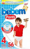 Подгузники-трусики Bebem 4 maxi 9-14 кг  jumbo 56 шт (6224009614899)