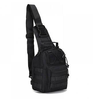 Рюкзак однолямочный через плечо черный