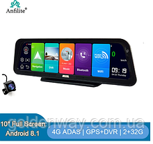 Панель видеорегистратор Pioneer Anfilite DVR 1081 экран 10 дюймов Android 8.1 память 2/32Гб