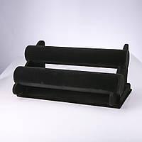 Браслетница черный велюр двойная L-30см H-19см d-5см А57