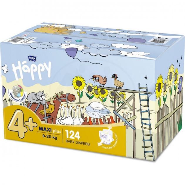 Подгузники для детей HAPPY BELLA BABY maxi plus 9-20 кг 2x62 шт (5900516017347)