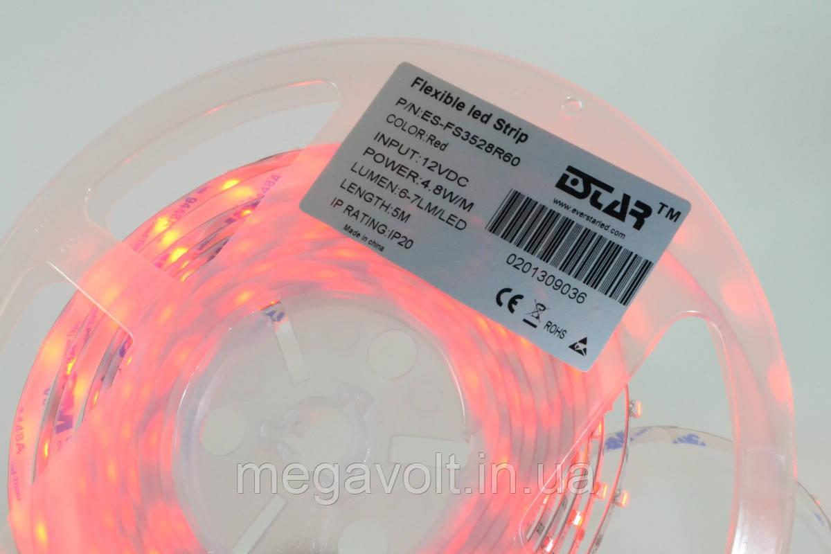 Светодиодная лента ESTAR SMD 3528/60 (IP20) premium 12V красная