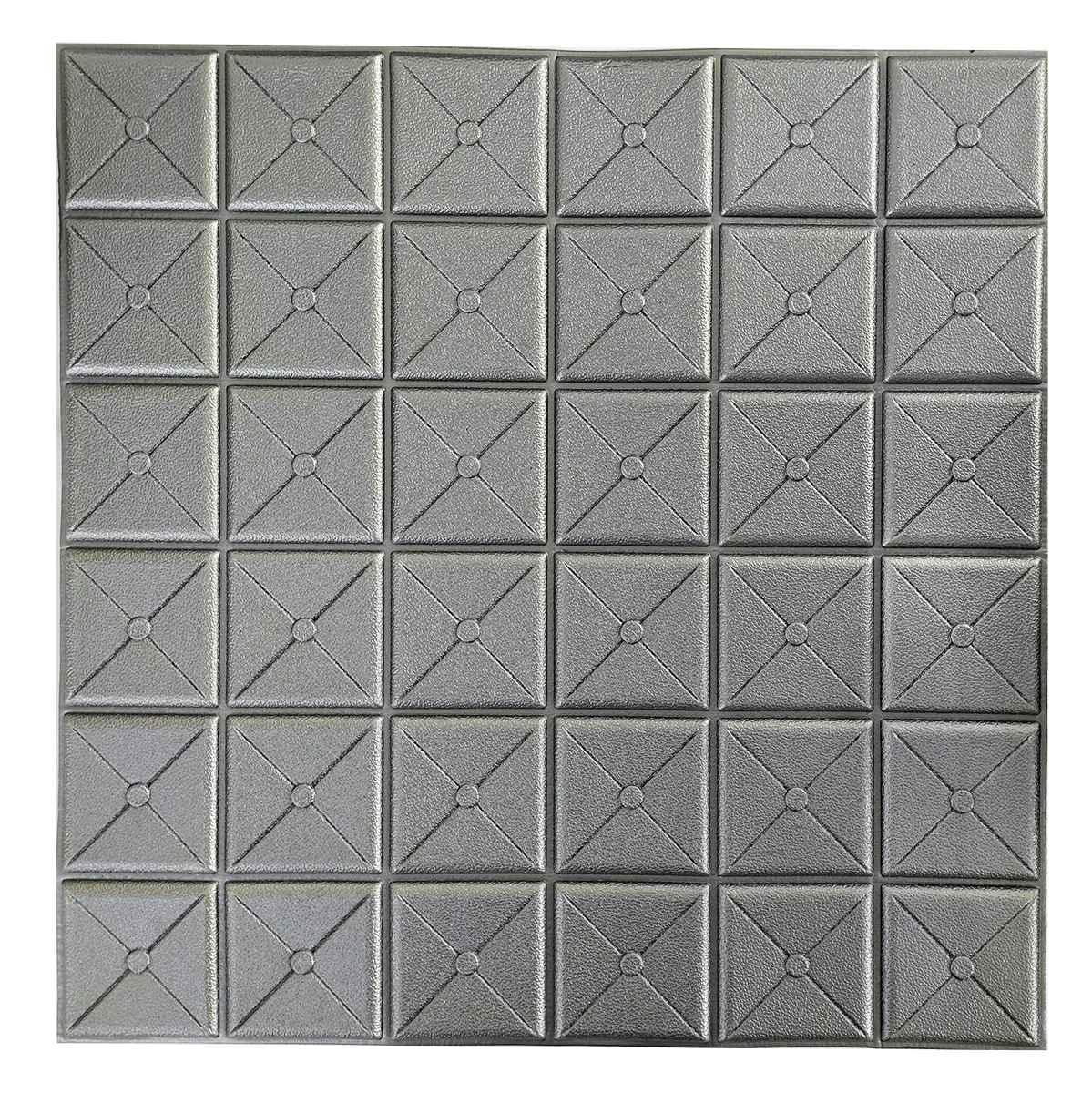 Декоративна 3Д-панель стінова Пуф 700х700х8мм (самоклеюча 3d панелі для стін)