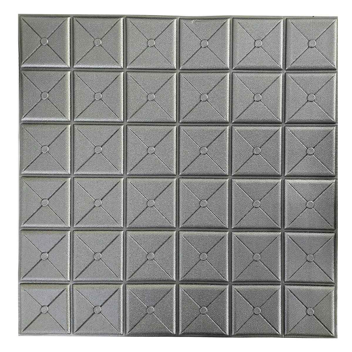 Декоративная 3Д-панель стеновая Пуф 700x700x8мм (самоклеющаяся 3d панель для стен)