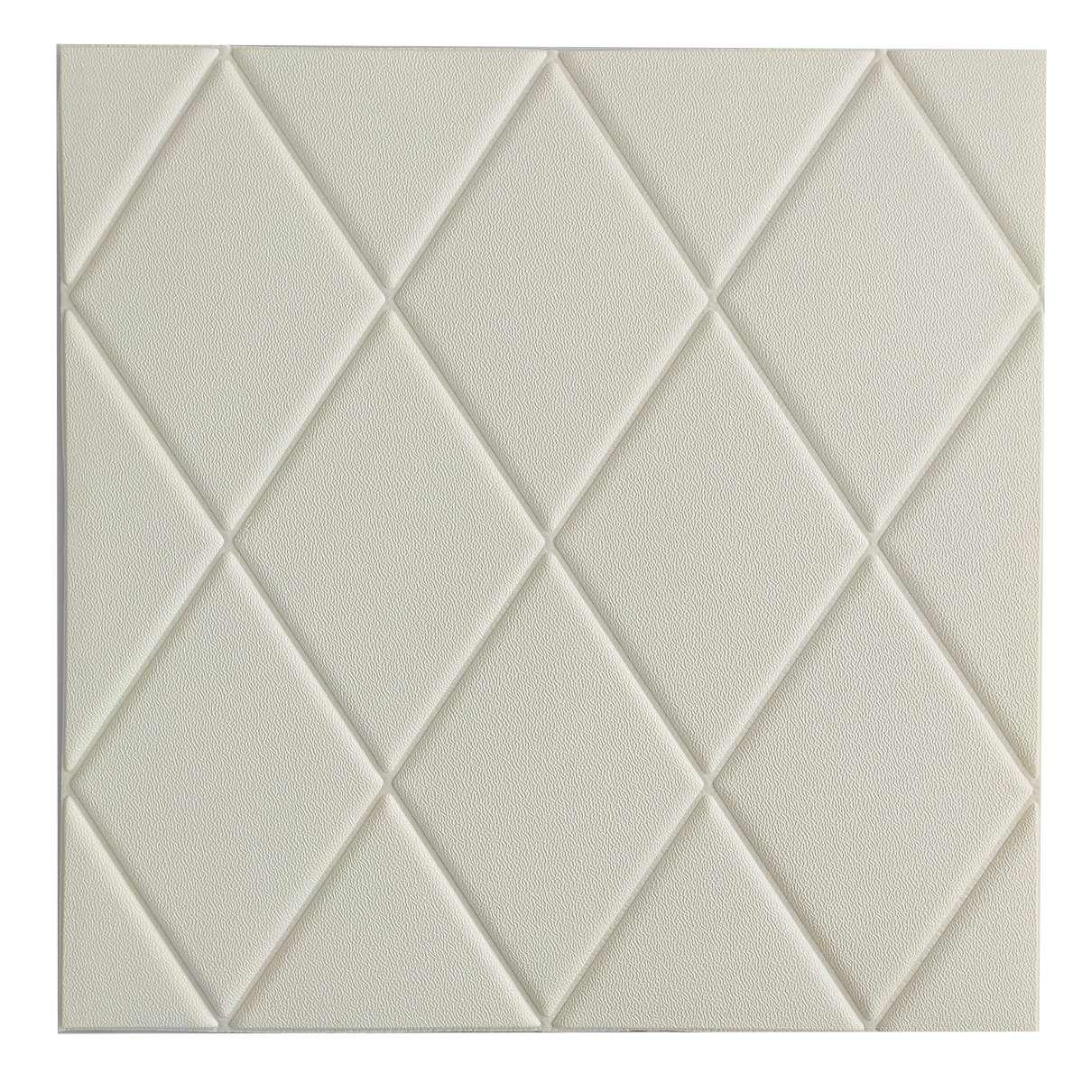Самоклеющаяся декоративная потолочная 3D панель Треугольник 700x700x8мм