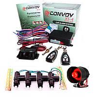 Комплект авто сигнализация Convoy XS-4 + сирена и центральный замок!