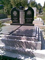 """Памятник на двоих """"Чаша"""" с фундаментом из мраморной крошки"""