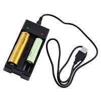 Зарядное устройство XXC-988, FAST CHARGE, ДРАЙВЕР ЗАЩИТЫ от перезаряда, 2x18650/14500/16340, micro U, фото 1