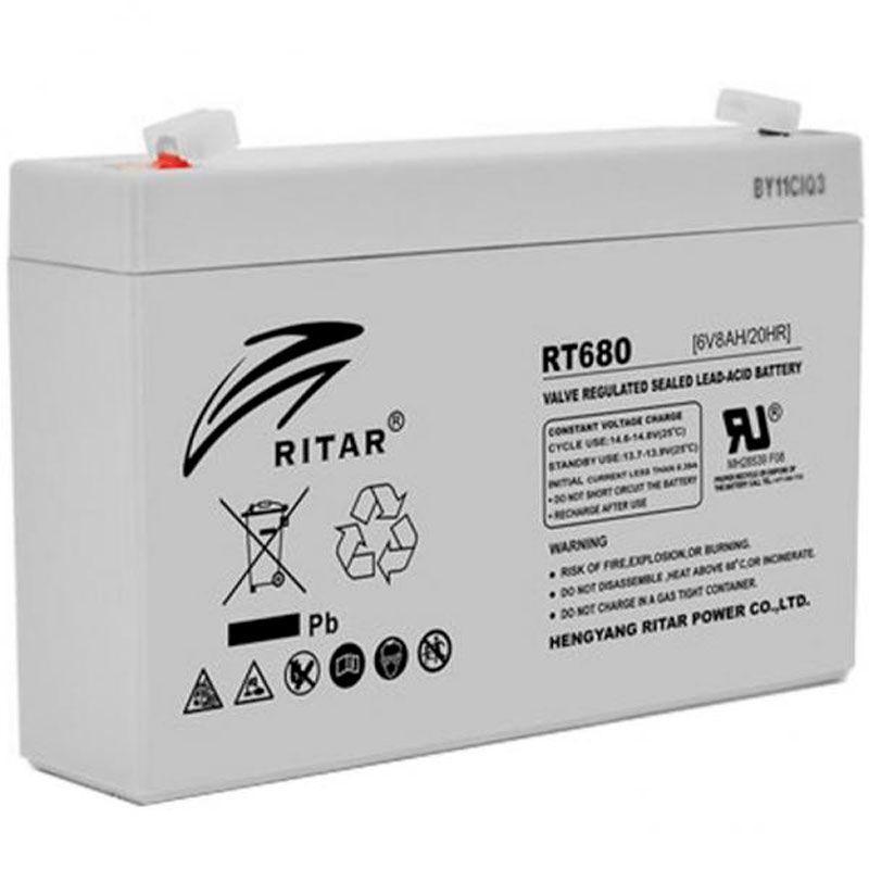 Аккумулятор AGM RITAR RT680, 6V 8Ah