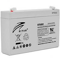 Акумулятор AGM RITAR RT680, 6V 8Ah