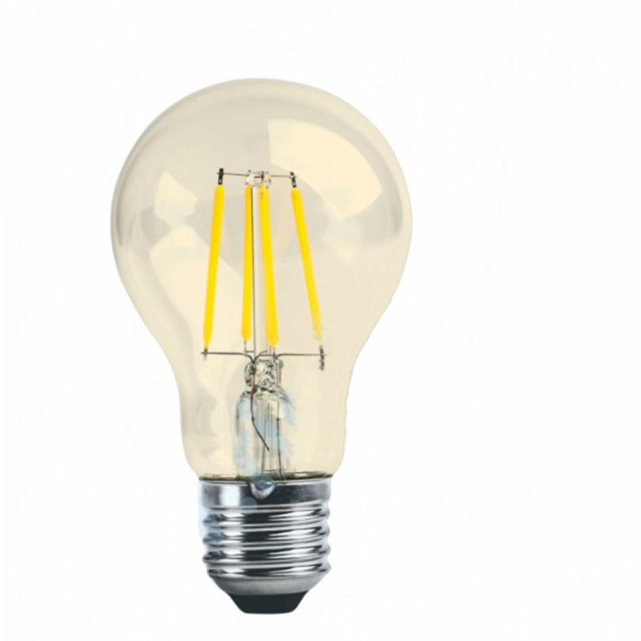 Лампа  LED Platinum Filament А60 8W E27 4000K Золотая RIGHT HAUSEN