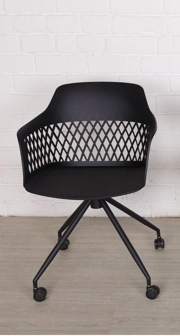 Кресло LAVANDA Лаванда черный пластик от Nicolas, на колесах