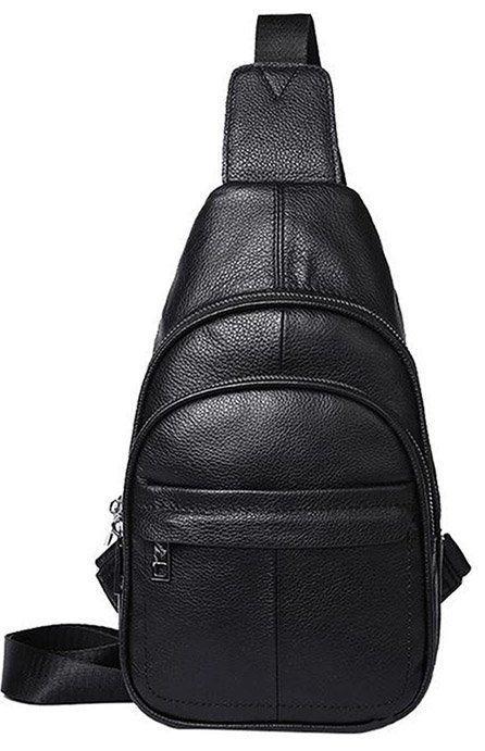Сумка мужская через плечо кожаная Vintage 14840 Черная