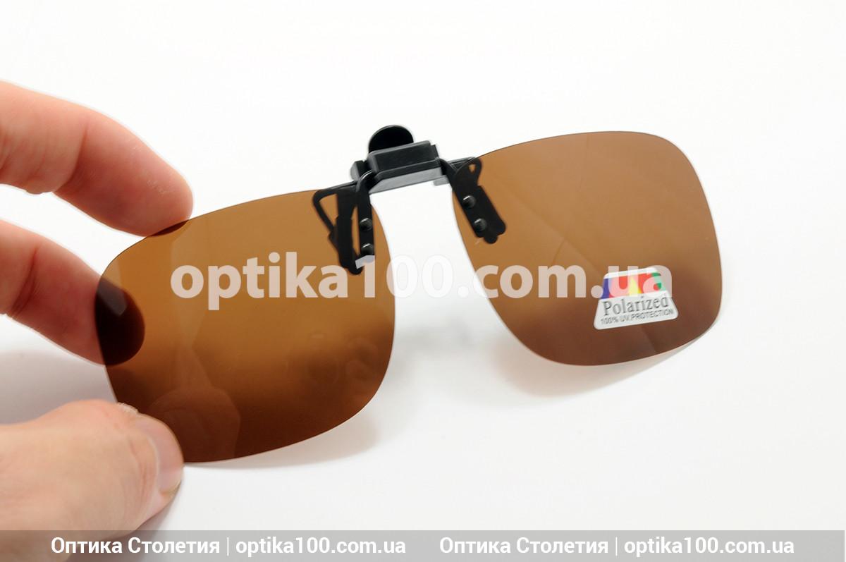Поляризационная накладка на очки Полароид (Polaroid) КОРИЧНЕВАЯ