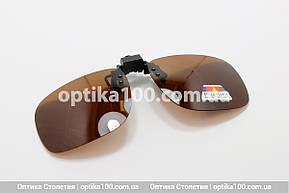 Поляризационная накладка на очки Полароид (Polaroid) КОРИЧНЕВАЯ, фото 2