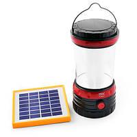 Фонарь лампа 5835 DT, солнечная батарея, ЗУ 220V, встроенный аккумулятор, фото 1