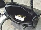 Сумка черная женская кроссбоди средний размер зко кожа на одно отделение, фото 2