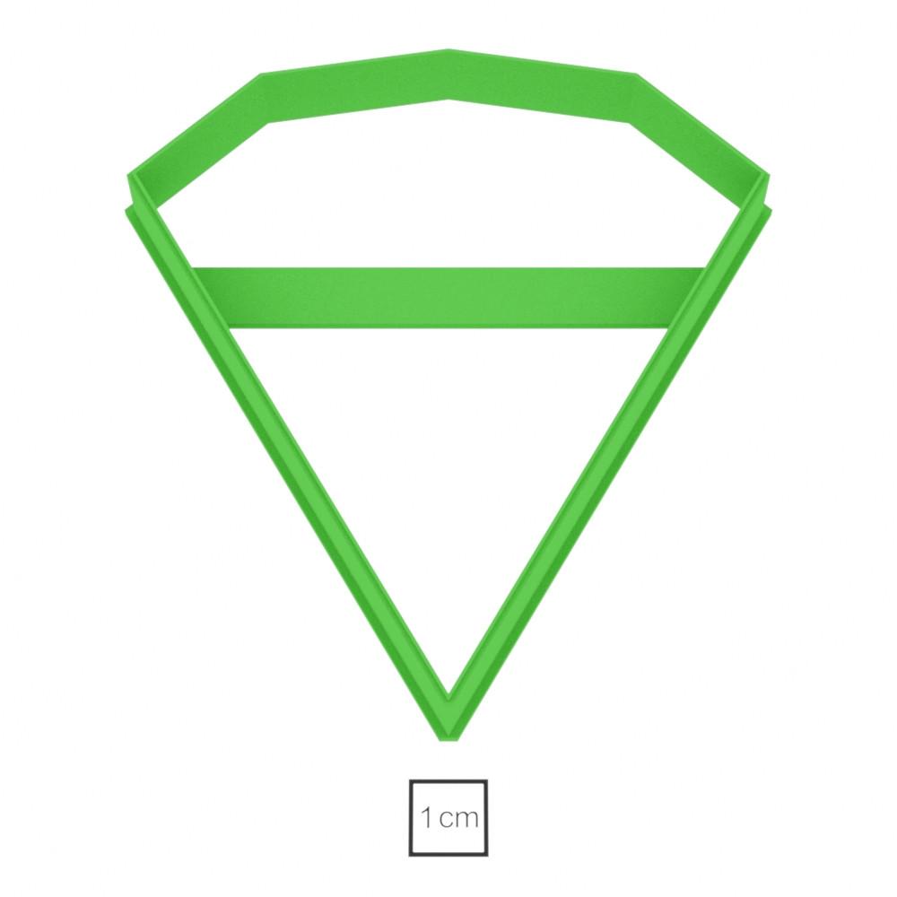 Висічка для пряників у вигляді діаманта