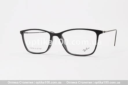 Чорна матова тонка оправа для окулярів. Легка. На невелике обличчя!, фото 2
