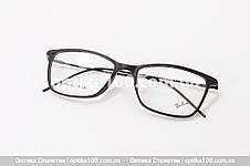 Чорна матова тонка оправа для окулярів. Легка. На невелике обличчя!, фото 3