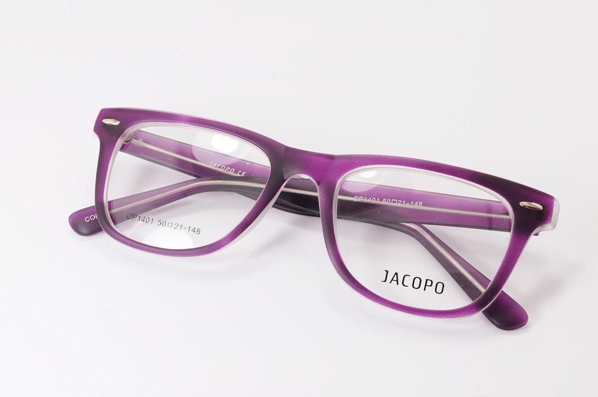 Фиолетовая оправа для очков в стиле Ray Ban. Матовый пластик