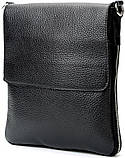 Сумка SHVIGEL 11016 из натуральной кожи Черная, фото 3