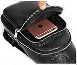 Сумка из зернистой кожи через плечо 20242 Vintage Черная, фото 6