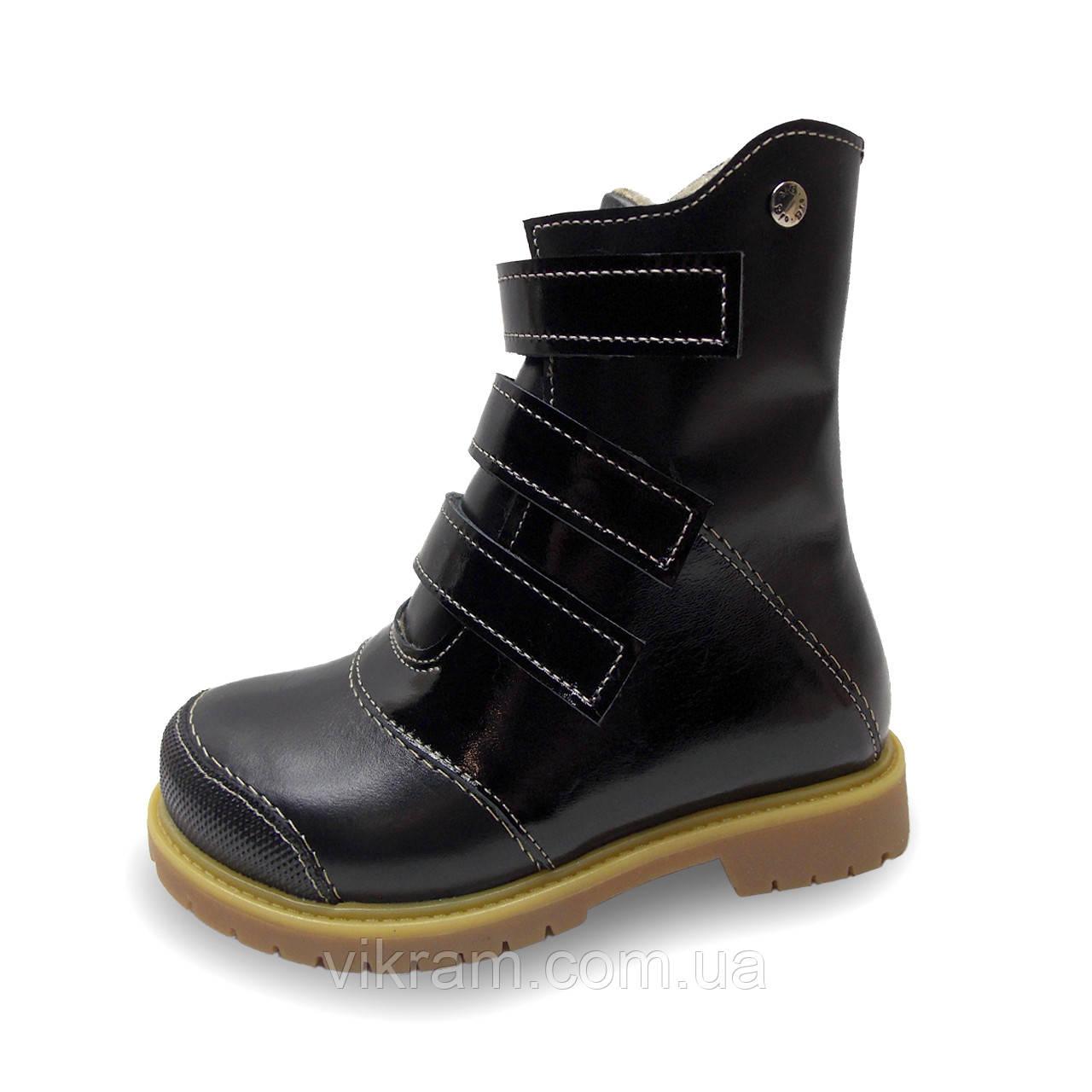 Зимние ортопедические ботинки с антиударным носиком ХАМЕР 2 черные