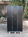 Шкаф для одежды сменной б у, металлический шкаф бу, шкаф б/у, фото 2