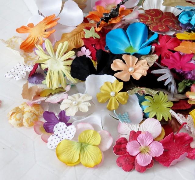 Цветы и листья (пресс-заготовки)