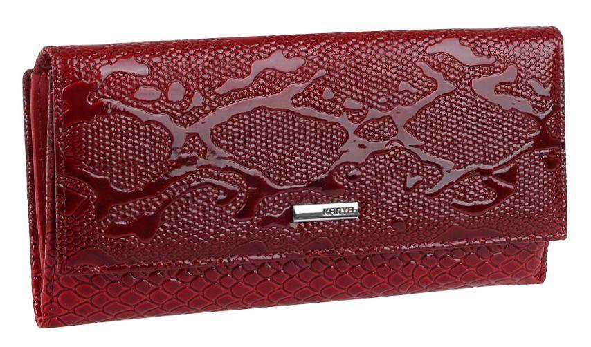 Кошелек женский KARYA 17149 кожаный Красный