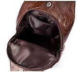 Сумка на плечо мужская Vintage 14783 Коричневая, фото 7