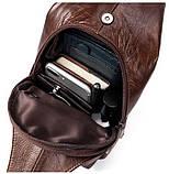 Сумка на плечо мужская Vintage 14783 Коричневая, фото 8