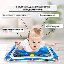 Детский водяной коврик аквариум с рыбками развивающий, акваковрик 65х45см, фото 2