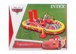 Игровой центр Intex Тачки с горкой и фонтаном