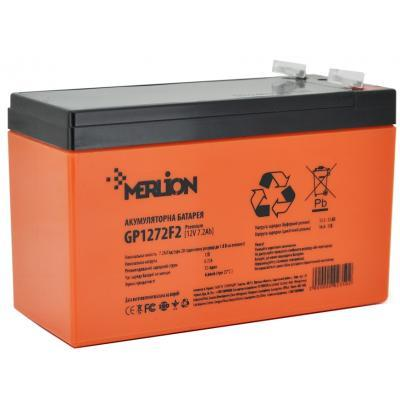 Аккумулятор AGM MERLION PREMIUM GP1272F2, 12V 7,2Ah