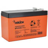 Аккумулятор AGM MERLION PREMIUM GP1272F2, 12V 7,2Ah, фото 1