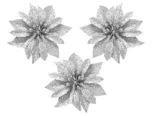 """Набор украшений на прищепке """"Цветок"""", 3 шт., 8,5 см., серебристый, фото 2"""