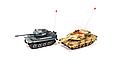 Танковый бой 508-10 Huan Qi 2 танка Abrams и Tiger на радиоуправлении. 2 пульта. по 4 жизни., фото 3
