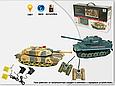 Танковый бой 508-10 Huan Qi 2 танка Abrams и Tiger на радиоуправлении. 2 пульта. по 4 жизни., фото 4