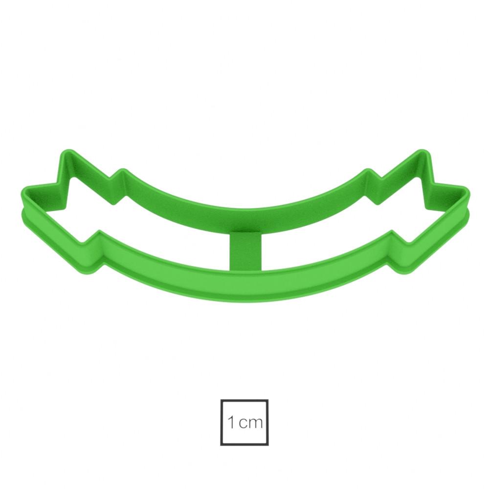 Висічка для пряників у вигляді привітальної стрічки