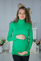7709 Гольф-водолазка  для беременных Зеленый, фото 1