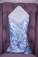 Конверт ангел атлас (голубой) 90*90 Brilliant Baby