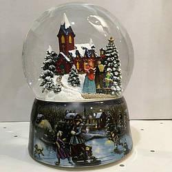 """Новогодний снежный музыкальный шар """"Рождество"""""""